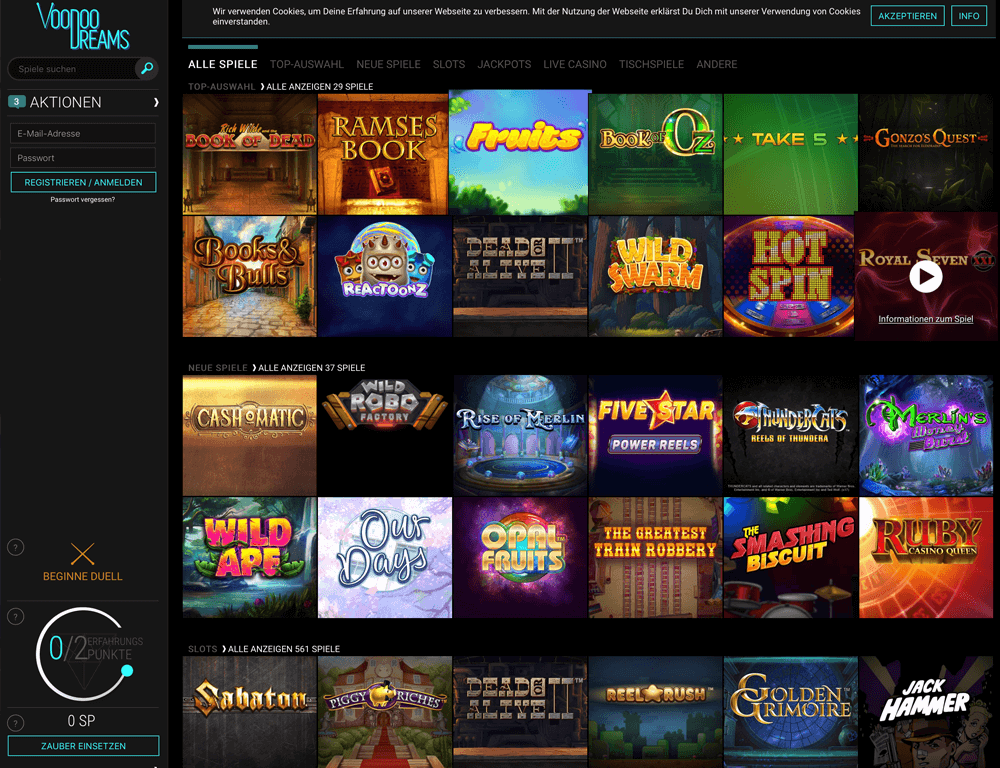 Live casino 3D Seasons vadslagning