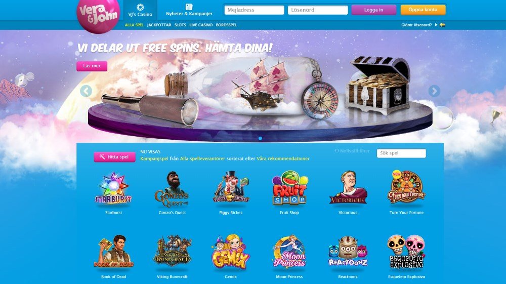 Verajohn mobile casino recension låga