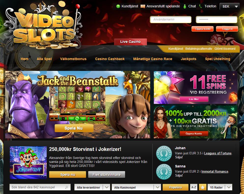 Ett mycket populärt casino slotV