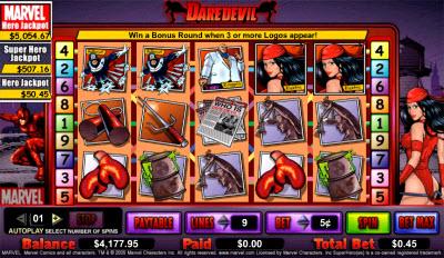 Retro Daredevil slot en spelen