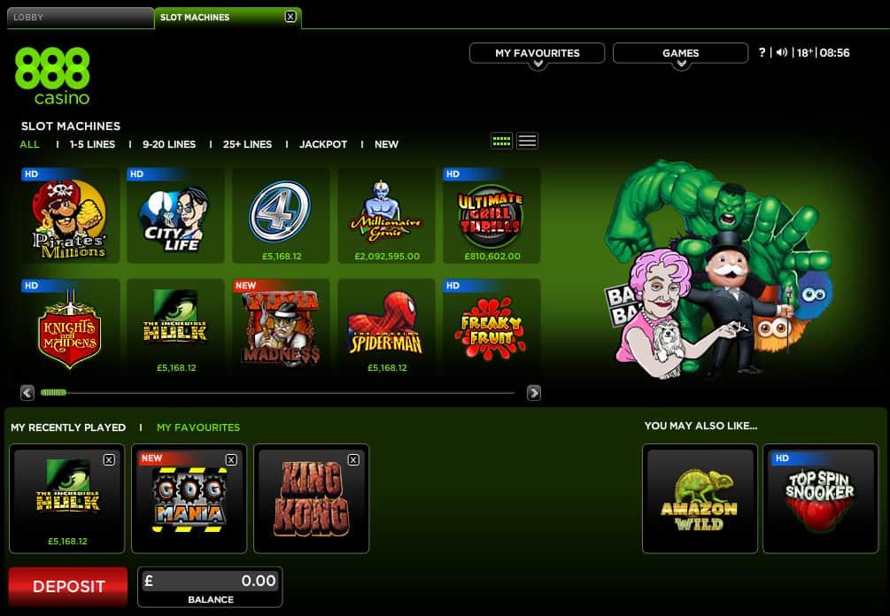 888 casino online slots epic