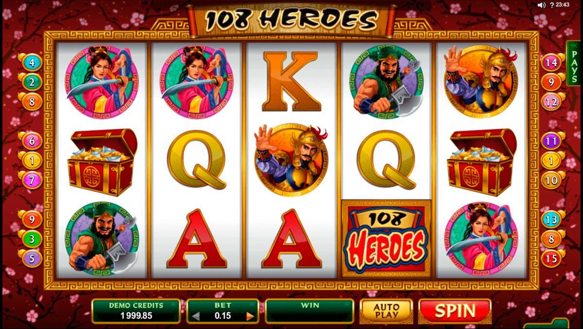 Casino heroes slots turnering table