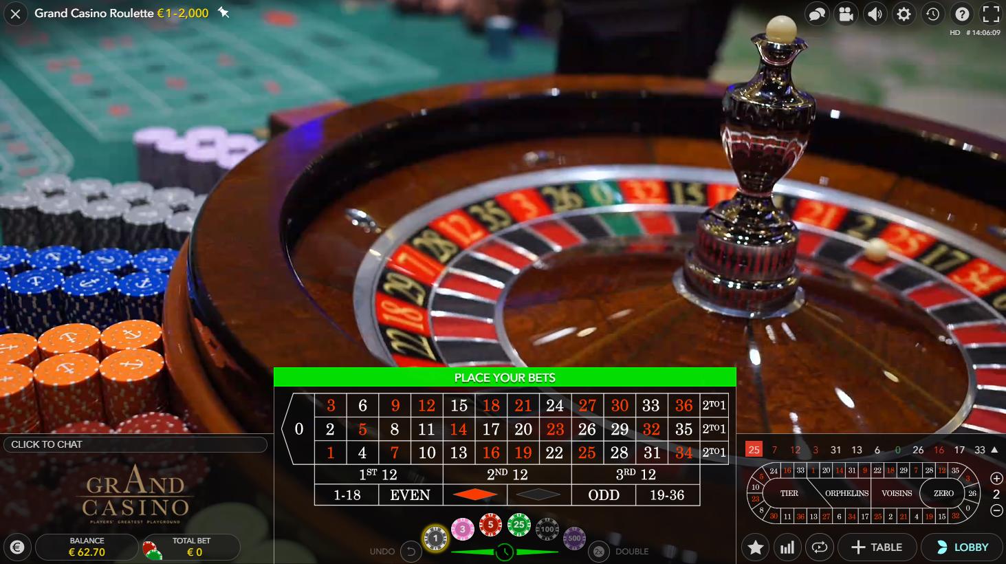 Roulette grön Zulu 63274