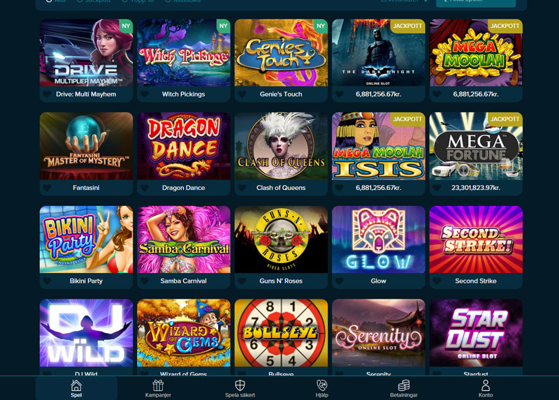 Special kampanjer hos casino käynnistetty