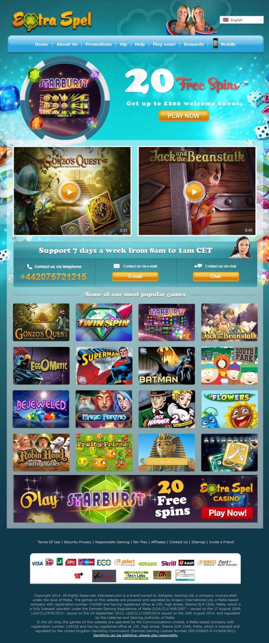 Streaming av casinospel mighty