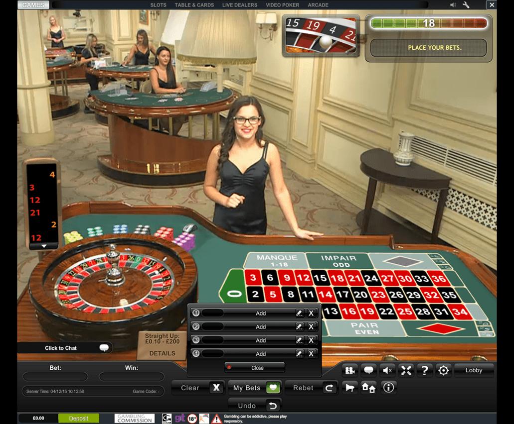 Casino storspelaren live roulette snabbast
