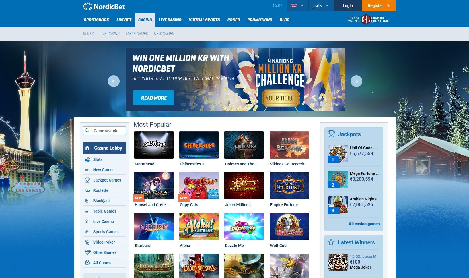 Norsk casino bankid odds trafiklotteriet
