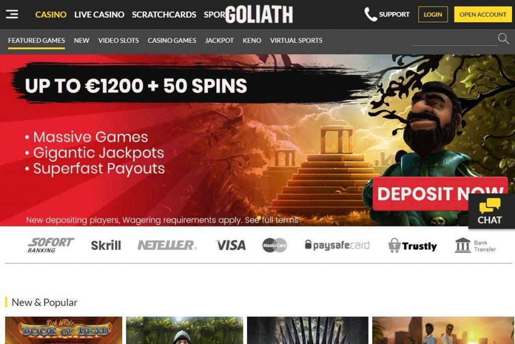 Ny välkomstbonus Goliath 7837